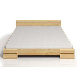 Sparta Maxi kétszemélyes ágy borovi fenyőből, 200 x 200 cm - Skandica