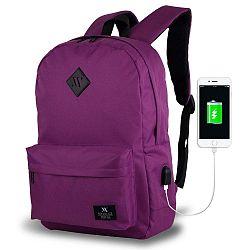 SPECTA Smart Bag lila hátizsák USB csatlakozóval - My Valice