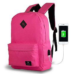SPECTA Smart Bag rózsaszín hátizsák USB csatlakozóval - My Valice