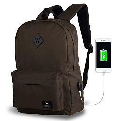 SPECTA Smart Bag sötétbarna hátizsák USB csatlakozóval - My Valice