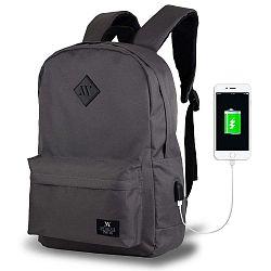 SPECTA Smart Bag szürke hátizsák USB csatlakozóval - My Valice