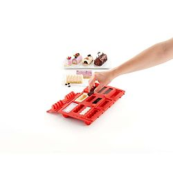 Square piros szilikon mini rolád sütőforma - Lékué