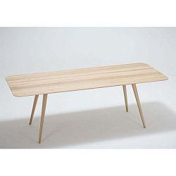 Stafa tömör tölgyfa étkezőasztal, 220 x 90 cm - Gazzda