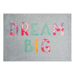 StateMat Dream Big szürke lábtörlő, 50 x 75 cm - Mint Rugs