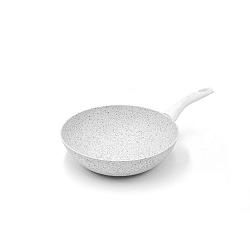 Stonewhite Dario WOK serpenyő ezüstszínű nyéllel, ø 28 cm - Bisetti
