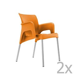 Sun narancssárga kerti fotel, 2 darab - Resol