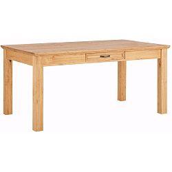 Suzie barna, tömör borovi fenyőfa étkezőasztal fiókkal - Støraa