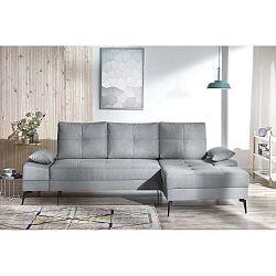 SVAN szürke kinyitható kanapé, jobb oldali kivitel - Bobochic