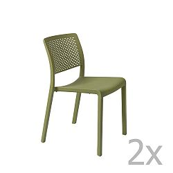 Trama Simple zöld kerti szék, 2 db - Resol