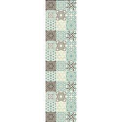Turquesa vinil szőnyeg, 180x50 cm - Huella Déco