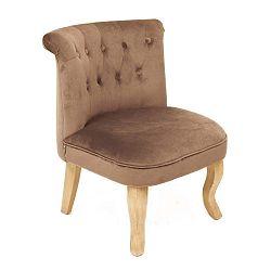 Vanity sötétszürke bársony fotel - Miloo Home