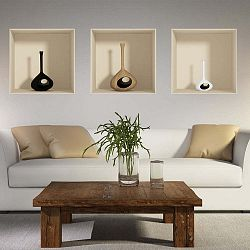 Vase 3 darabos falmatrica 3D hatással - Ambiance