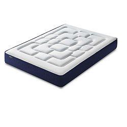 Velours fehér matrac kék szegéllyel, 180 x 200 cm - Bobochic Paris