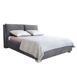 Vicky szürke kétszemélyes ágy, 180 x 200 cm - Mazzini Beds