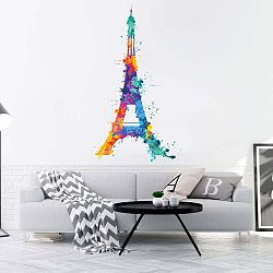 Wall Decal Eiffel Tower Design Watercolor falmatrica, 70 x 40 cm - Ambiance