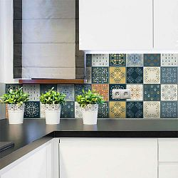 Wall Stickers Tiles Azulejos Rio Cuarto 15 db-os falmatrica szett, 15 x 15 cm - Ambiance