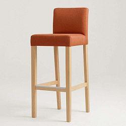Wilton narancssárga bárszék natúr lábakkal - Custom Form