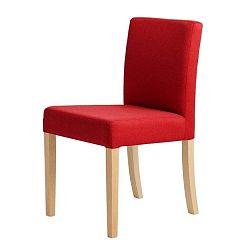 Wilton piros szék, natúr fa lábakkal - Custom Form