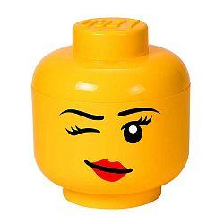Winky L sárga fejformájú tárolódoboz - LEGO®