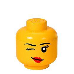 Winky sárga fejformájú tárolódoboz - LEGO®