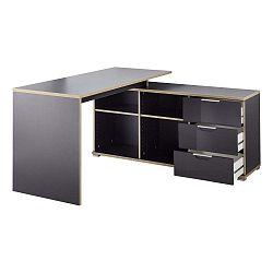 X fekete íróasztal fiókos tárolóasztallal - Germania