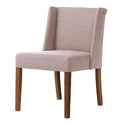 Zeste púderrózsaszín bükk szék sötétbarna lábakkal - Ted Lapidus Maison