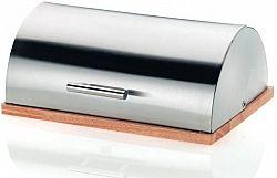 Kela DE LUXE kenyértartó rozsdamentes acél/fa