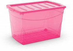 KIS Omnibox XL rózsaszín 60l kerekeken