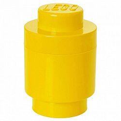 LEGO kerek tárolódoboz, 123 x 183 mm - sárga