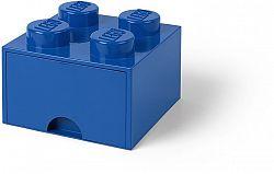 LEGO tároló doboz 4 fiókkal - kék