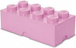 LEGO tároló doboz 8 250 x 500 x 180 mm - világos rózsaszín