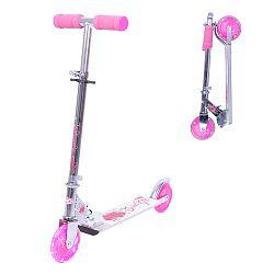 Összecsukható roller WORKER Racer Sweet Girl világító kerekekkel