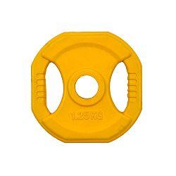 Szögletes gumizott súlyzótárcsa inSPORTline Pump 1,25 kg