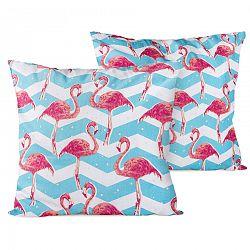 4Home Flamingo kispárnahuzat, 2x 40 x 40 cm, 40 x 40 cm