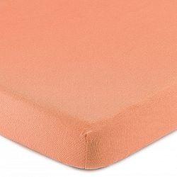 4Home Jersey lepedő elasztánnal lazacszínű, 160 x 200 cm