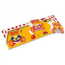 Bino Puzzle fatáblán Medvék