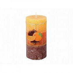 Dekoratív gyertya Fahéj és narancs, 9 cm