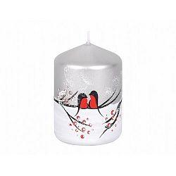 Dekoratív gyertya Madarak télen, henger