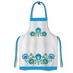 Domarex Folk kötény, kék, 65 x 75 cm
