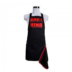 Elegancia a konyhában, Férfi kötény sörnyitóval, Grill King, piros, 22,5 x 75 cm