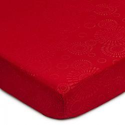 Elisa mikroszálas lepedő, piros, 90 x 200 cm, 90 x 200 cm