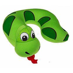Gyerek utazópárna Comic Animal green, 27 x 25 cm
