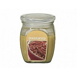 Gyertya üvegben Szantálfa, 430 g