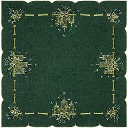 Gyertyák karácsonyi abrosz, zöld, 85 x 85 cm, 85 x 85 cm