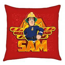 Herding Sam a tűzoltó kispárna piros, 40 x 40 cm