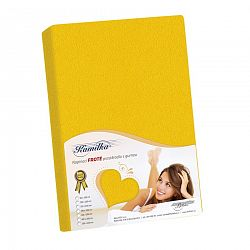 Kamilla frottír lepedő, sárga, 140 x 200 cm, 140 x 200 cm