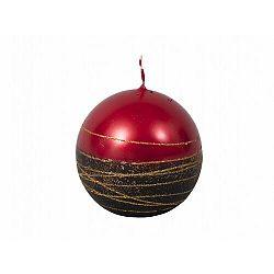 Karácsonyi gyertya Lumina Gold golyó, piros