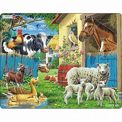 Larsen Puzzle Állatok a farmon, 25 darab