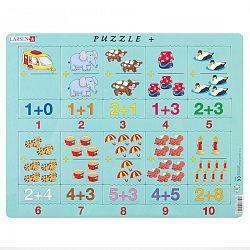 Larsen Puzzle Összeadás képekkel és számokkal 20 darab