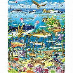 Larsen Puzzle Tengeri állatok, 60 darab